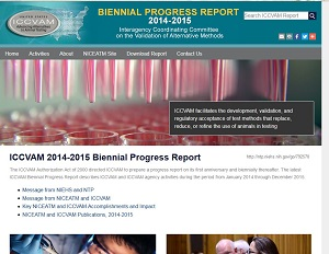 Home page of ICCVAM 2014-2015 Biennial Report