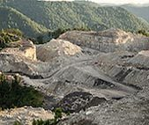 Landscape of mining mountain tops