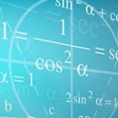 Composite image of chemical formulas and mathematical equations