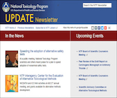 Screenshot of NTP Update newsletter